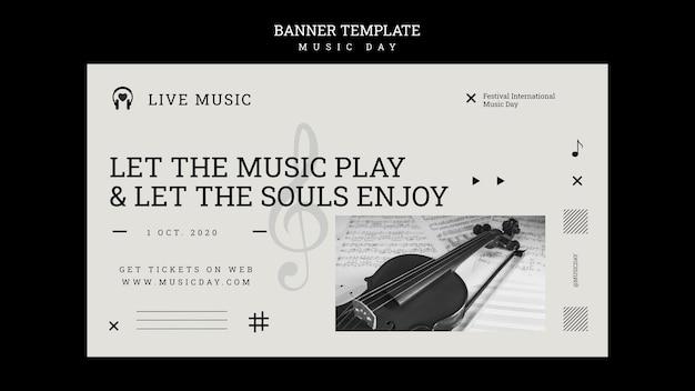 Szablon Transparent Dzień Muzyki Darmowe Psd