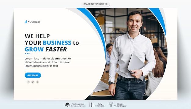 Szablon Transparent Firmy Kreatywnych Korporacyjnych Biznesowych Premium Psd