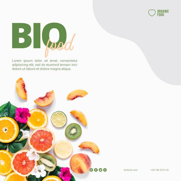 Szablon Transparent Jedzenie Bio żywności Darmowe Psd