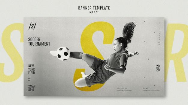 Szablon Transparent Kobieta Piłkarz Darmowe Psd