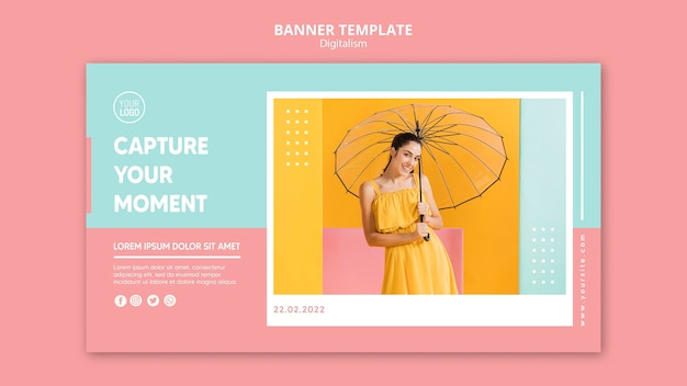 Szablon Transparent Kolorowy Digitalizm Darmowe Psd