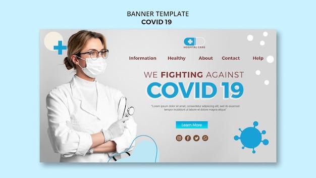 Szablon Transparent Koncepcja Covid19 Darmowe Psd