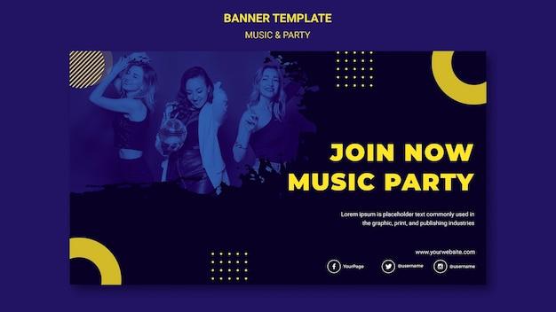 Szablon Transparent Koncepcja Muzyki I Partii Darmowe Psd