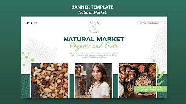 Szablon Transparent Koncepcja Naturalnego Rynku Darmowe Psd