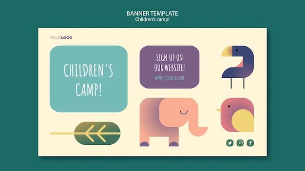 Szablon Transparent Koncepcja Obozu Dla Dzieci Darmowe Psd