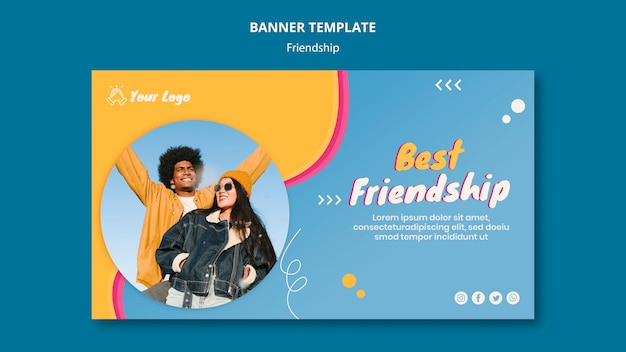 Szablon Transparent Koncepcja Przyjaźni Darmowe Psd