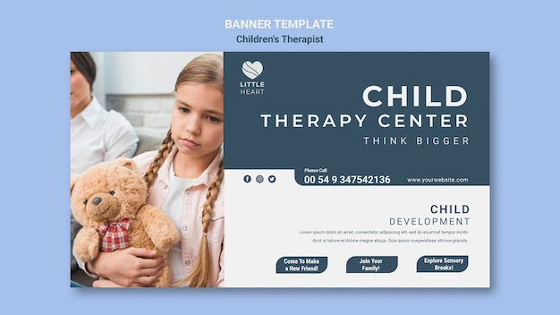 Szablon Transparent Koncepcja Terapeuty Dla Dzieci Darmowe Psd
