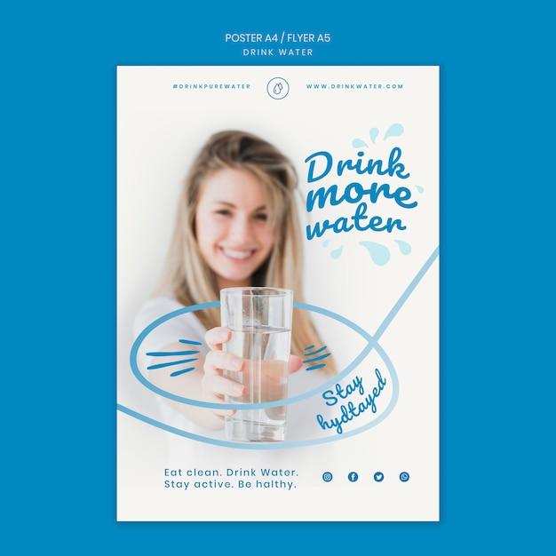 Szablon Transparent Koncepcja Wody Pitnej Darmowe Psd