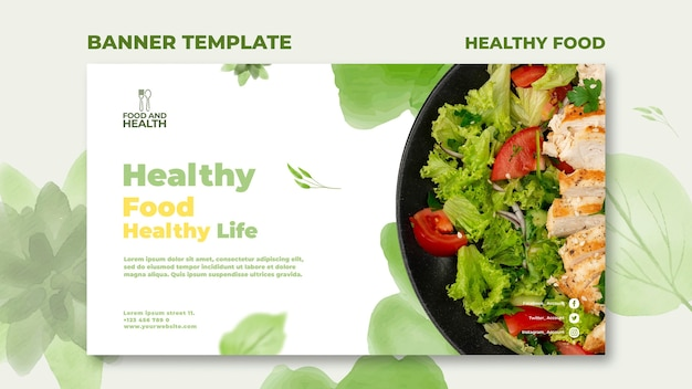 Szablon Transparent Koncepcja Zdrowej żywności Darmowe Psd