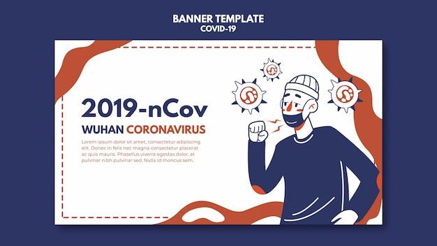 Szablon Transparent Koronawirusa Wuhan Darmowe Psd