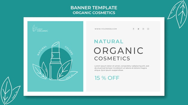 Szablon Transparent Kosmetyki Organiczne Darmowe Psd