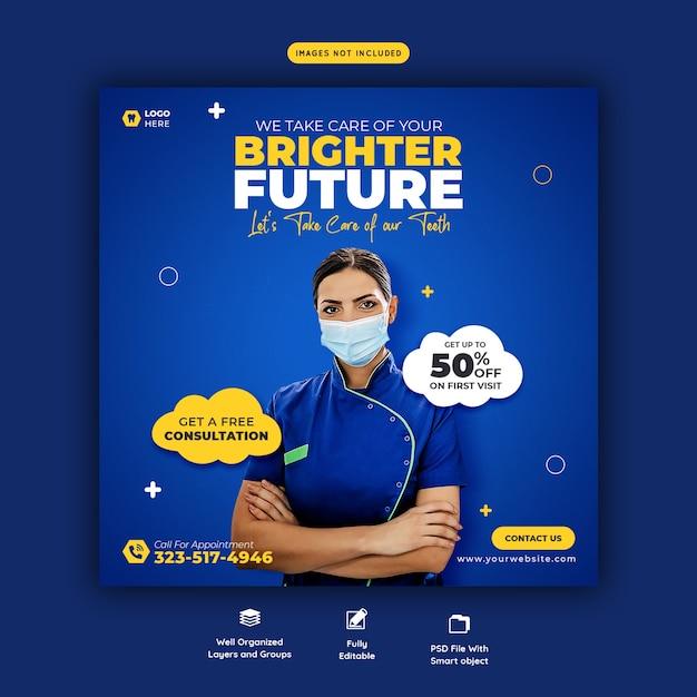 Szablon Transparent Mediów Społecznościowych Dentysty I Opieki Stomatologicznej Darmowe Psd