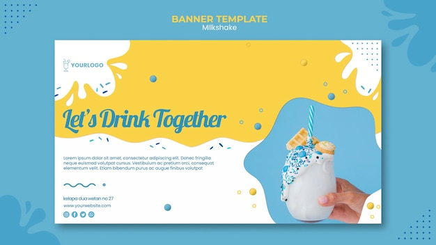 Szablon Transparent Milkshake Darmowe Psd