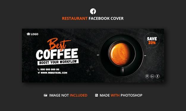 Szablon Transparent Okładka Facebook Kawiarnia Premium Psd