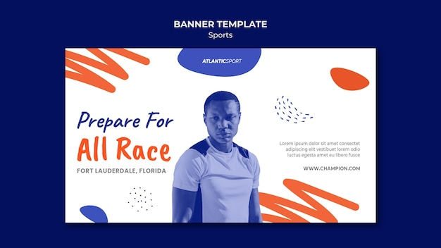 Szablon Transparent Poziomy Dla Sportu Z Człowiekiem Darmowe Psd