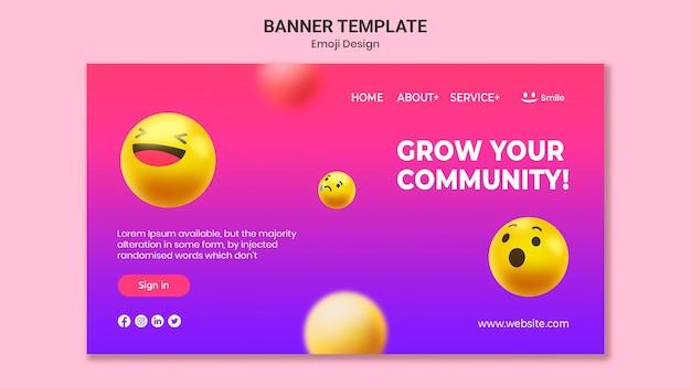 Szablon Transparent Projekt Emoji Darmowe Psd