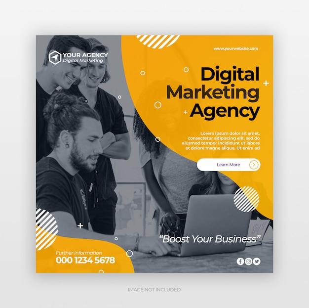 Szablon Transparent Reklamy Marketingu Cyfrowego Firmy Premium Psd