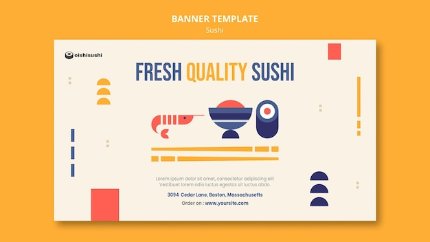 Szablon Transparent Restauracja Sushi Darmowe Psd