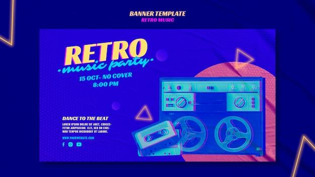 Szablon Transparent Retro Party Muzyka Darmowe Psd