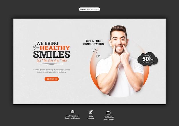 Szablon Transparent Sieci Web Dentysta I Opieka Stomatologiczna Darmowe Psd