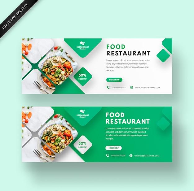 Szablon Transparent Sieci Web Restauracja żywności Z Nowoczesnym Eleganckim Designem 3d Premium Psd