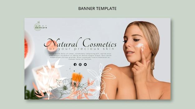 Szablon Transparent Sklepu Kosmetyki Naturalne Darmowe Psd