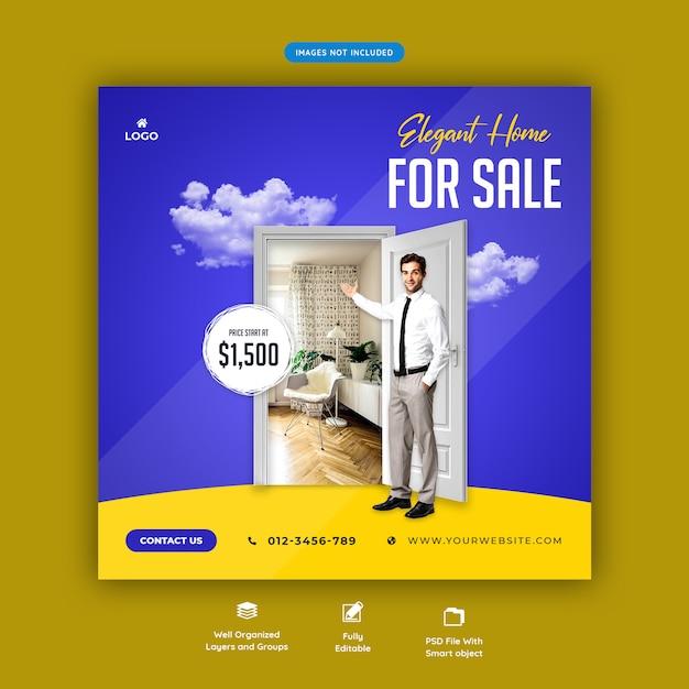 Szablon Transparent Sprzedaż Mediów Społecznościowych Nieruchomości Premium Psd
