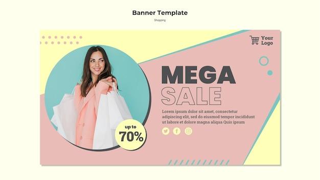 Szablon Transparent Sprzedaż Mega Zakupy Darmowe Psd