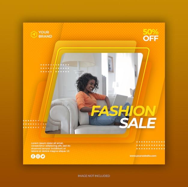 Szablon Transparent Sprzedaż Moda Premium Psd