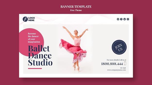 Szablon Transparent Studio Tańca Darmowe Psd