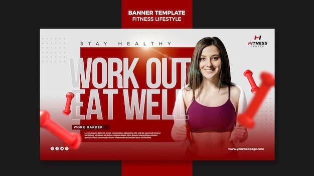 Szablon Transparent Stylu życia Fitness Darmowe Psd