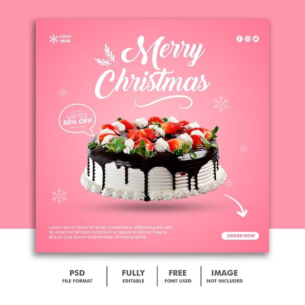 Szablon Transparent świąteczny Post W Mediach Społecznościowych Premium Psd