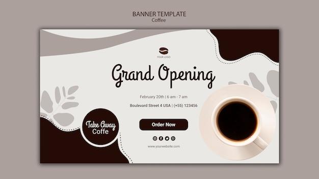 Szablon Transparent Uroczyste Otwarcie Kawiarni Darmowe Psd