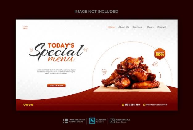 Szablon Transparent Www Zdrowej żywności Lub Restauracji Premium Psd