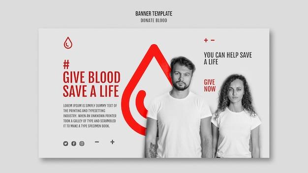 Szablon Transparentu Kampanii Oddawania Krwi Darmowe Psd