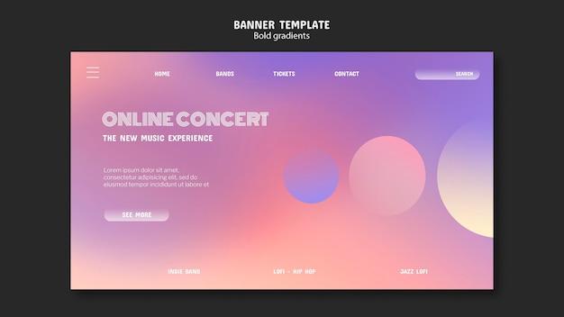 Szablon Transparentu Koncertu Online Premium Psd