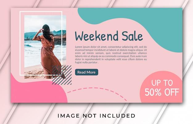 Szablon Transparentu Na Sprzedaż W Weekendy Premium Psd