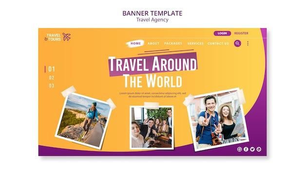 Szablon Transparentu Reklamowego Biura Podróży Darmowe Psd