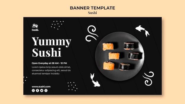 Szablon Transparentu Sushi Ze Zdjęciem Darmowe Psd