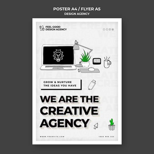 Szablon Ulotki Agencji Kreatywnych Darmowe Psd