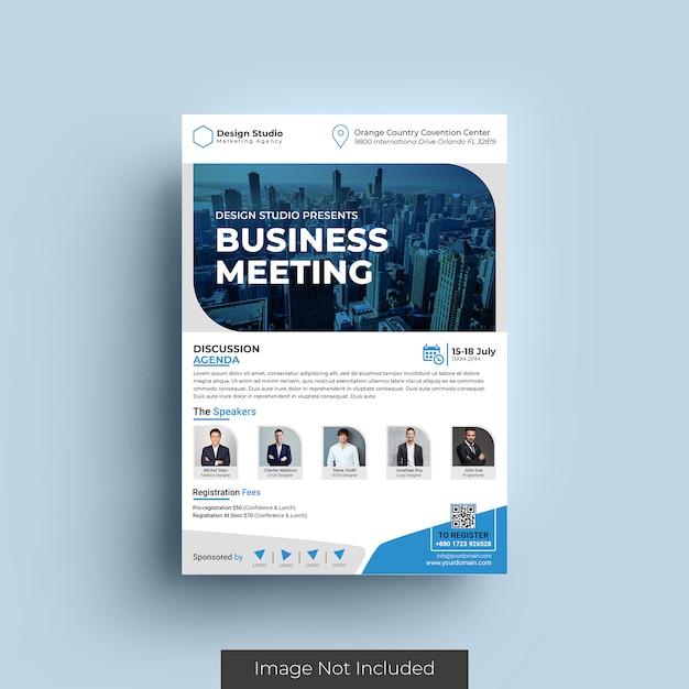 Szablon Ulotki Biznesowej Premium Psd