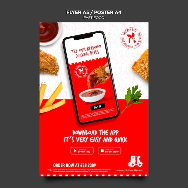 Szablon Ulotki Fast Food Premium Psd