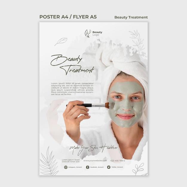 Szablon Ulotki Koncepcja Zabiegu Kosmetycznego Darmowe Psd