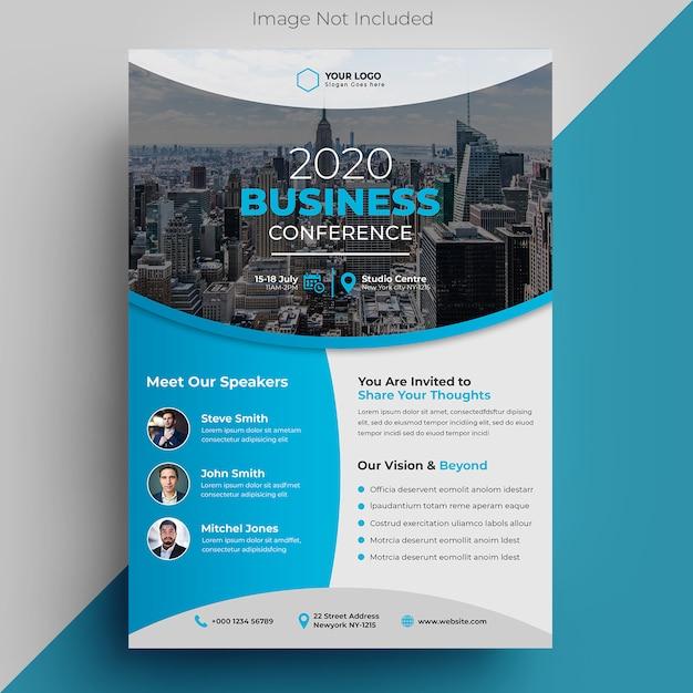 Szablon Ulotki Konferencji Biznesowych Premium Psd