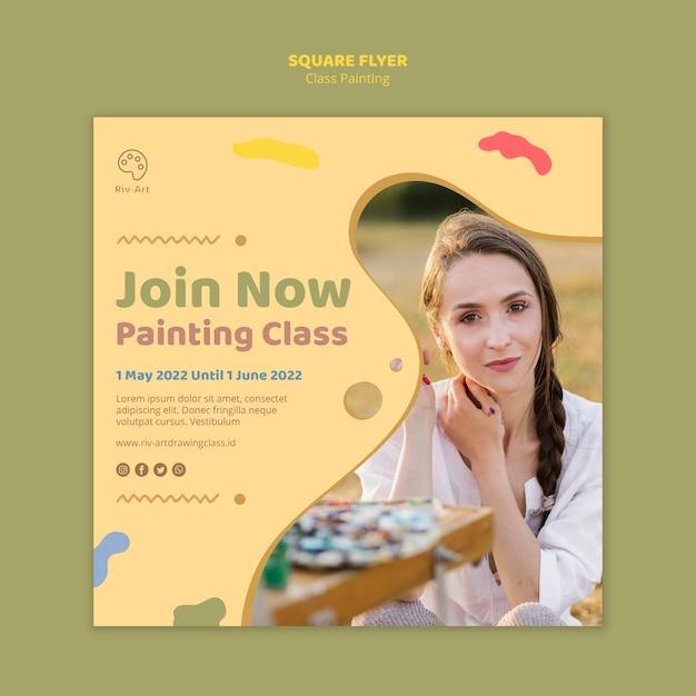 Szablon Ulotki Malowania Klasy Darmowe Psd
