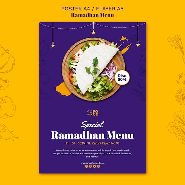 Szablon Ulotki Menu Ramadhan Darmowe Psd
