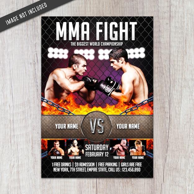 Szablon Ulotki Mma Fight Premium Psd