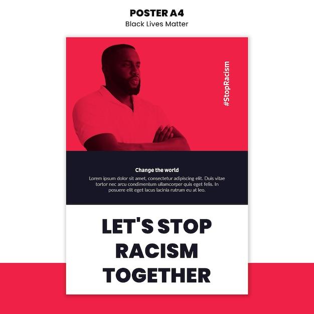 Szablon Ulotki Na Temat Rasizmu I Przemocy Darmowe Psd