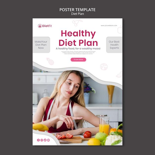 Szablon Ulotki Planu Diety Darmowe Psd