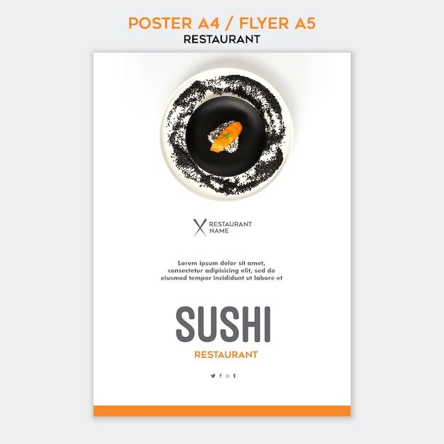 Szablon Ulotki Restauracja Sushi Darmowe Psd